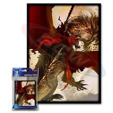 Max Protection 100 MTG standard Card Sleeves Deck Protector Crimson Rider - Drag