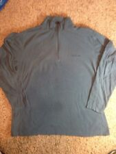 Mens Columbia Pullover Shirt Jacket 1/4 Zip Fleece  Size XLarge Blue. Ked