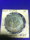 1824 Province of Nova Scotia George IV - One Penny Token NS-2A3 ,VF