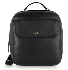 TULA by RADLEY Nappa Originals Leather Backpack Rucksack Top Zip in Black 8394