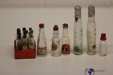 Konvolut 18 Stück alte Glasflaschen für den Kaufmannsladen Kaufladen Puppenstube