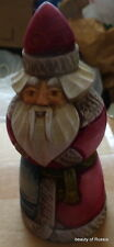 "Russian hand carved&painted wood Santa Father of Frost.6.0 ""   #29 sa"