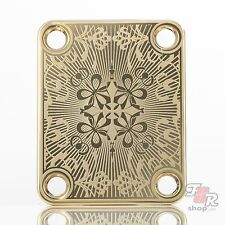 Engraved Guitar Neck Joint Heel Plate (Standard 4 Bolt) GOLD #2068
