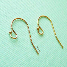 20pcs 14k gold filled ball french hook earring ear wire plain single dot E01g20