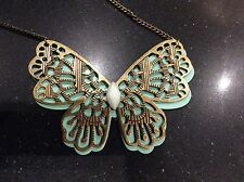 BLUE/GOLD COLOUR BUTTERFLY NECKLACE by OPIA/BNWT