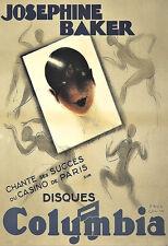 L'ARTE Annuncio Josephine Baker COLUMBIA Danza Deco Poster stampati