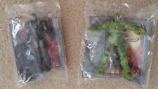 Set of Two Iron Man 2 Action Figures Marvel 2010 Burger King Give-Aways