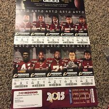 2015 Washington Redskins Season Ticket Stub Full Strip sheet set KIRK COUSINS