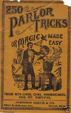 250 Parlor Tricks, Magic Made Easy 1900 book on CD
