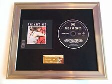SIGNED/AUTOGRAPHED THE VACCINES - WHAT DID YOU EXPECT FRAMED CD PRESENTATION