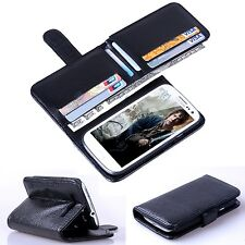 Nueva 7 Card Holder Flip Cartera De Cuero Funda Para Samsung Galaxy S 3 I9300