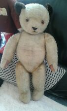 """Antique 25"""" large chad Valley jointed mohair teddy bear english sooty style"""