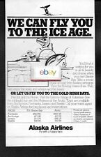 ALASKA AIRLINES FLY WITH A HAPPY FACE TO THE ICE AGE GLACIER BAY & NOME AD