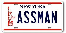 Seinfeld Cosmo Kramer ASSMAN Prop Replica Aluminum License Plate Tag Gift New