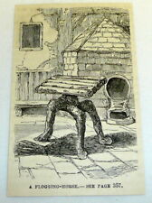 small 1878 magazine engraving ~ A FLOGGING CHAIR ~ spanking