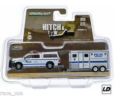 Dodge Ram 2014 Hitch & Tow Police Truck w/Horse Trailer 1:64 By Greenlight -