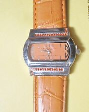 Orange watch  bijoux terner designer fashion Brand wide wristwatch
