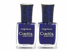 2 SALLY HANSEN CRACKLE NAIL POLISH OVERCOAT DISTRESSED DENIM