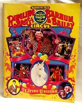 115th Edition Ringling Bros. Barnum & Bailey Circus Program 1985 With Poster