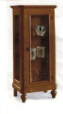Vetrina cristalliera mobile classico legno massello, arte povera, 1 anta