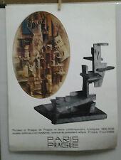 AFFICHE ORIGINALE ANCIENNE EXPOSITION PICASSO BRAQUE PARIS PRAGUE 1966