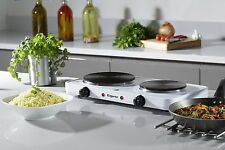 Portable Electric Hob Twin Dual Hot Plate 2500W Table Top Double Hotplate Cooker