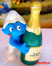 20708 Schtroumpf party champagne smurf pitufo puffo puffi schtroumpfette rariss.