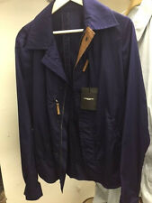 NWT $1600 COSTUME NATIONAL HOMME Deep Purple brown leather Jacket 38/40M