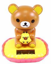 Rilakkuma Relax Bear Holding Kiiroitori Japan Figure Solar Toy Gift USA Seller