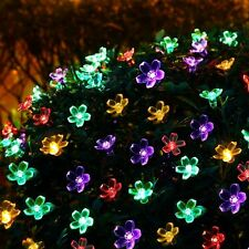 RGB 50leds Flower Solar LED String Light Outdoor Wedding Party Fairy Xmas Lamp