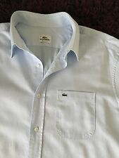 Stunning 100% Genuine Mens Lacoste Regular Fit Light Blue Shirt In Size 44, XXL