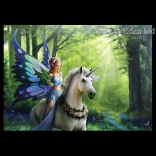 *REALM OF ENCHANTMENT* Fantasy Unicorn Art 3D Postcard By Anne Stokes (15x10cm)