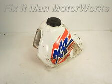 94 Honda XR250L Original Fuel Tank & Cap / OEM Gas Can Lid White Set Type2 Wl