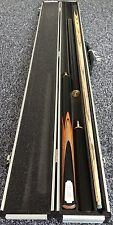 (ORANGE45ALU) = 3/4 SNOOKER POOL CUE EXTENSION & MINI BUTT & ALUMINIUM CASE