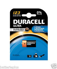 1 Piece Duracell Photo battery Lithium CR 123 A / 3V