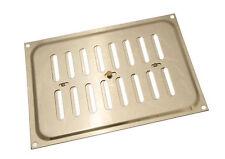 PAQUET DE 5 Laiton Poli Aveuglette Grille Ventilation Couvercle 9 X 6 Inches