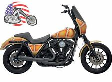 Black Bassani 2 into 1 Road Rage Exhaust System With Short Upswept Muffler FXR