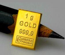 1 Gramm Goldbarren zertifiziert (Valcambi ESG Tafelbarren, 1g 999,9 Gold Barren)