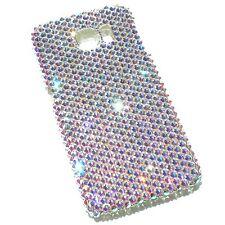 For Samsung Galaxy S6 EDGE AB Iridecent Bling Back Case w/Crystals frm Swarovski