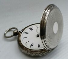 Vtg Solid Silver 935 Full Hunter Swiss Gents Pocket Watch 3 Bears Hallmark