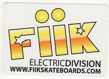 Fiik Electric Division Yellow Skateboard Sticker