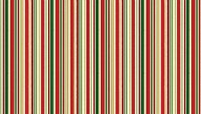 "Christmas Classic STRIPE Cotton fabric Makower Size 22"" x 18"" larger available"