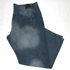 New $66 Big & Tall Mens ROCAWEAR W50x34L Classic Jeans Distressed Denim Pants