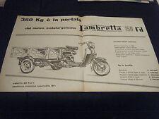 PUBBLICITA' ADV LAMBRETTA 150 FD 2 PAGINE   1955