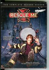 RESCUE ME: Season 2, used TV movie 3 DVDs, firemen, 13 episodes, Dennis Leary