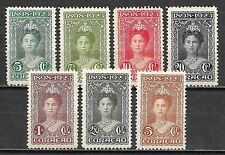 Curacao stamps 1923 NVPH 75-81  MLH  VF