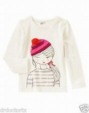 NWT GYMBOREE SISTER STORE COZY GIRL TEE LSS FROM SHINE ON LINE SIZE MED (7/8)