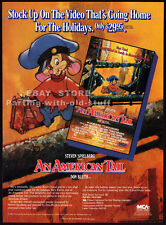 AN AMERICAN TAIL__Original 1987 Trade AD movie promo__Dom DeLUISE_DON BLUTH_1986