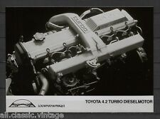 PRESS - FOTO/PHOTO/PICTURE - Toyota 4.2 Turbo Diesel  Engine