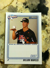 2010 TOPPS BOWMAN AFLAC DILLON MAPLES RC QTY